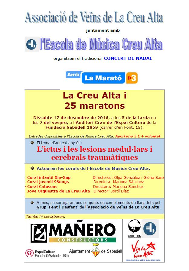 cartell-concert-marato-2016