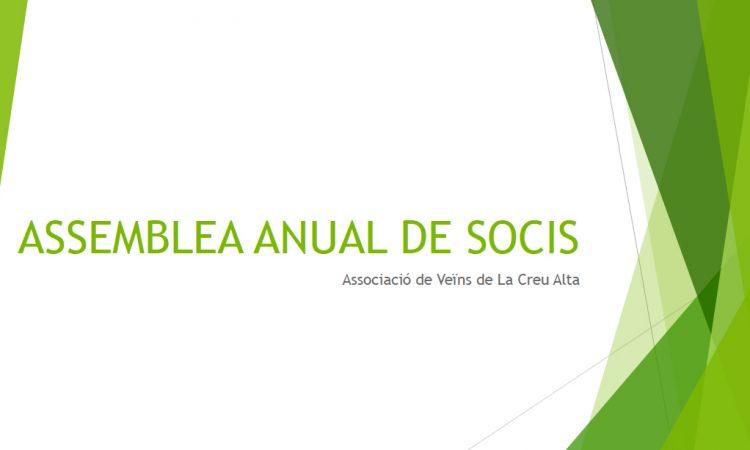 Assemblea anual de Socis